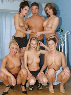 Mick Blue 5-on-1 Reverse Gang Bang Pics