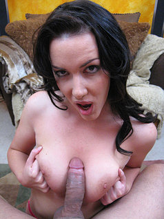 Dark Haired Bimbo Audrey Elson Gets Her Face Plastered With Ball Butter In This Photo Set!