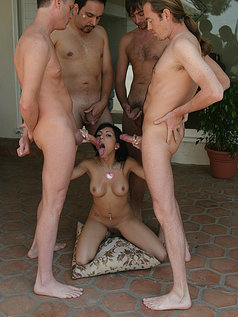 Lela Star Gets Four Big Cocks!