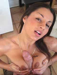 Leana Bacci Gobbles On Brandon Iron's Hard Cock In These Pics.