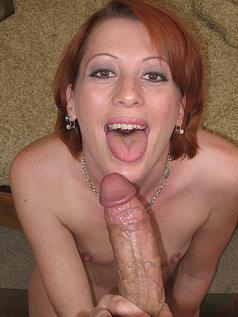 Redhead Babe Breanna Bree Sucks Some Dick In This Photo Set!