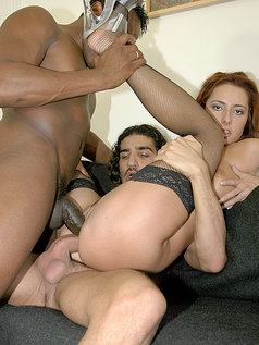 Seven Perfect Bottoms Getting Anal in Interracial 2 on 1s
