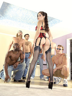 Sasha Grey is a Walking Gang Bang