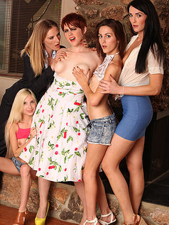 Piper, Renee, Bianca and Summer on Lily Cade