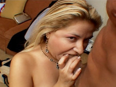 Busty Blonde MILF Babe Gets Her Face Splashed In Splooge Sauce!
