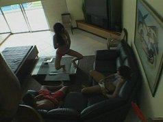 living room threesome