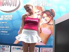 Christine Young at the Miami porno convention