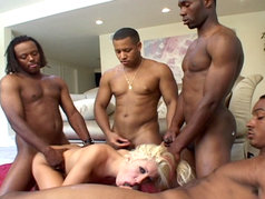 Nice Blonde and 5 guys