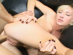 Blonde Beauty Hillary Scott Gets Her Ass Pumped By A Massive Meat Rod!