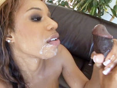 Pleasure Bunny Gets Her Face Plastered In Man Candy By Two Studs!