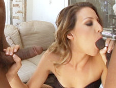 Kratrina Angels Gets Her Holes Beaten By Two Black Cocks