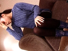 Ukrainian Teen Alexa Mai Shows Up In A Wool Sweater...She Also Leaves In It!