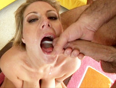 Busty Blonde Velicity Von Gets Bombarded With Multiple Loads Of Nut Butter!