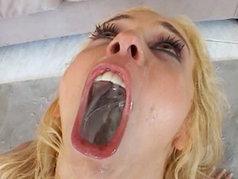 Blonde slut Kelly Wells needs cum or else she goes nuts!