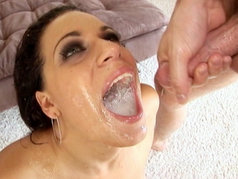 Super Hot Latina Mia Bangg Gets Her Mouth Filled With Sperm After Gang Bang With Multiple Throbbing Dicks!