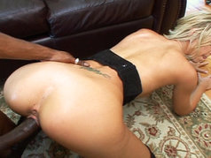 Hot Blonde Brooke Banner Gets Her Face Covered After Fucking An Ebony Dick!