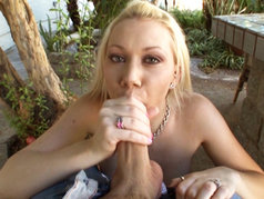 There's No Fucking Around In This Scene...Samantha Sin Simply Sucks On A Big Bone!