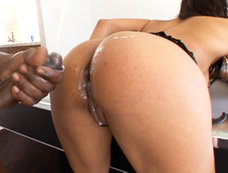 Ebony Beauty Dunia Montenegro Gets Ass Creamed!