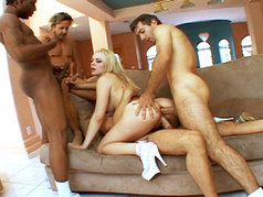 Annette Schwartz Gets DP Fucked BY 4+ Guys!