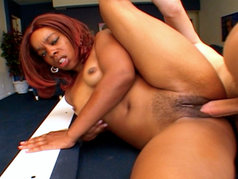 Ebony Redhead Slut Remy Loves Sucking And Fucking Hard Cock!