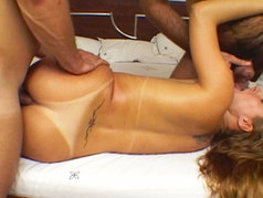 Latin Babe Diana Gets Double Hole Stuffed!