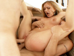 Blonde Slut Aline Gets DP'd By Mr.Pete And Mark Wood.