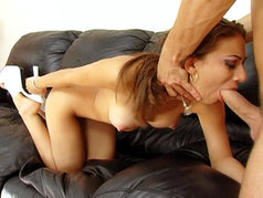 Kira Croft Gets Her Face Covered In Sperm After Being Throat Fucked!