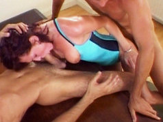 Donna Marie Gets Her Perky Tits Splashed With Cum!