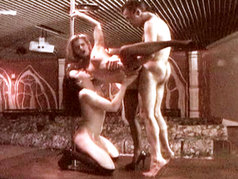 Hardcore Private Stripper Threesome!