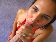 Epic Blowjob from Sexy and Petite Brunette Serena