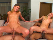 Group Sex, Double Penetration and Cum Swapping with Eimi and Evelyn