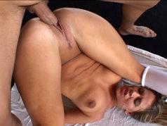 Nicole Brazzle Deep Throats and Fucks in a Hardcore 2 on 1 Scene