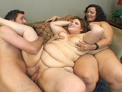Fatty + Fatty = Stiffy?  Chubby Hardcore Threesome