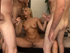 Darryl Hanah in a Blowjob Gang Bang