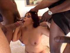 Kaci Starr Kneels Down and Blows Them All!