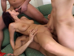 Claudia Adams in an Anal Gang Bang