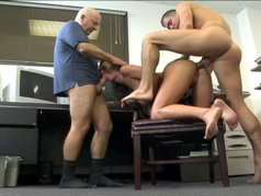 Brunette Naomi is the Office's Anal Relief