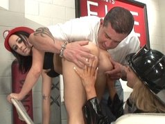 Red Hot Fire Fighter Babes 1 - Scene 4