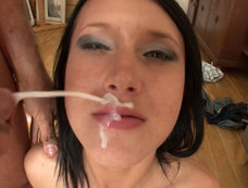 Bukakke Blowjob Gang Bang with Angelica Black