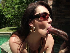 Brunette MILF RayVeness Gets some Hardcore Interracial Anal