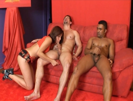 Erika Martinelli Brings a Friend to a Wild Anal Gang Bang
