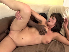 Interracial with Brunette MILF Santina Marie