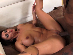 Interracial with Brunette MILF Raven Black