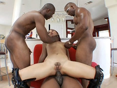 Katsuni vs 3 in an Anal Gang Bang!