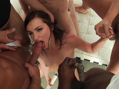 Lily Carter Shines in a Bukkake Gang Bang