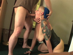 Vienna Swallows Hot Iron after a Long Blowjob