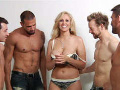 Julia Ann Gets Warmed up for Gangbanged