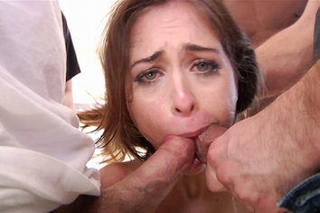 Riley reid gets a massive bukkake