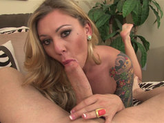 Riley Reece - Tattooed Temptress Sucks Him In
