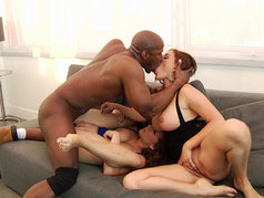 Krissy Lynn and  Alex Chance in an Interracial Threesome